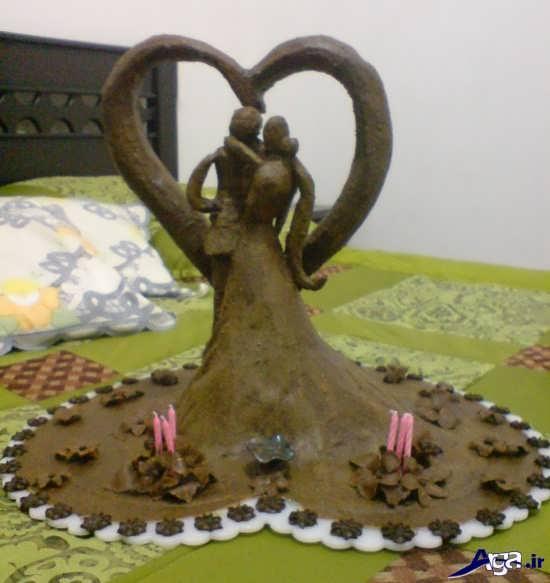 تزیین حنا به شکل عروس و داماد