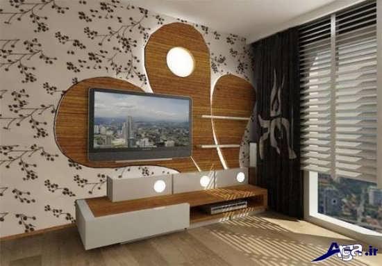 تزیین دیوار پشت تلویزیون