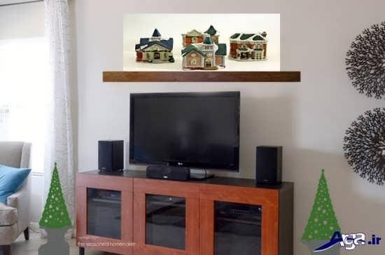 تزیین ساده دیوار پشت تلویزیون