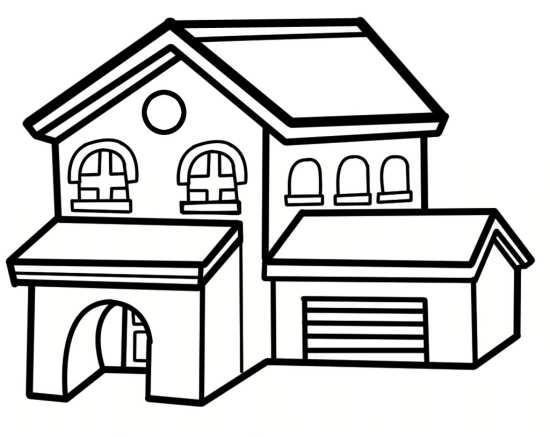 نقاشی خانه کودکانه با طرح های متفاوت و جدید