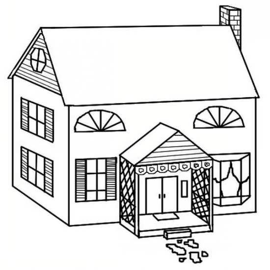 نقاشی ساده خانه