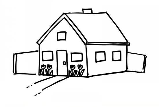 نقاشی خانه ساده
