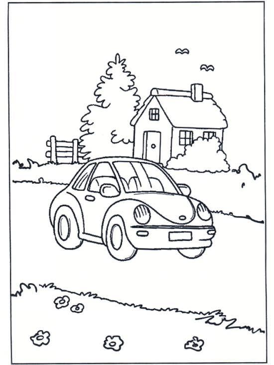 نقاشی ماشین و خانه