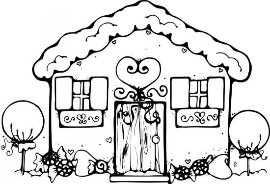 Image Result For Gingerbread House Coloring Pages Unique