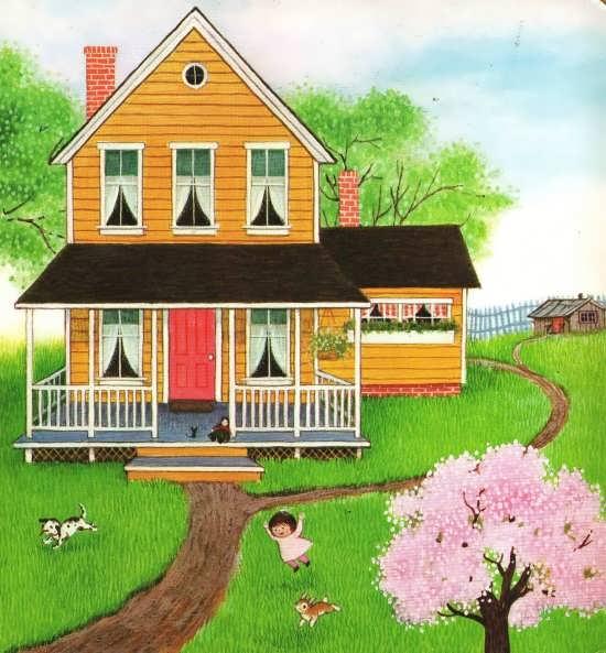 آموزش رنگ آمیزی نقاشی خانه