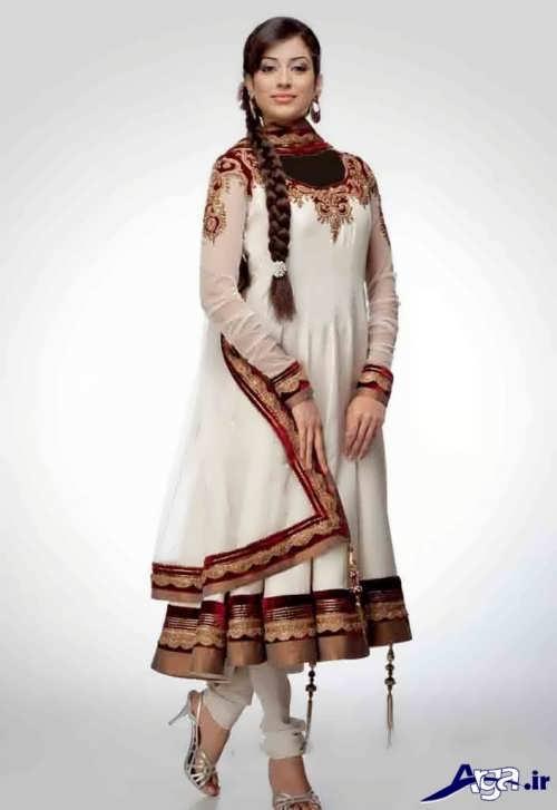 لباس هندی با طرح بلند