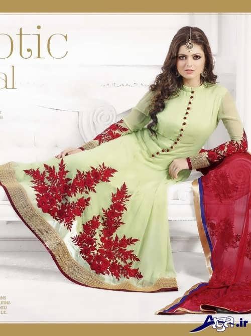 لباس هندی گلدار