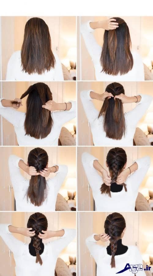 آموزش مرحله به مرحله بافت موی فرانسوی