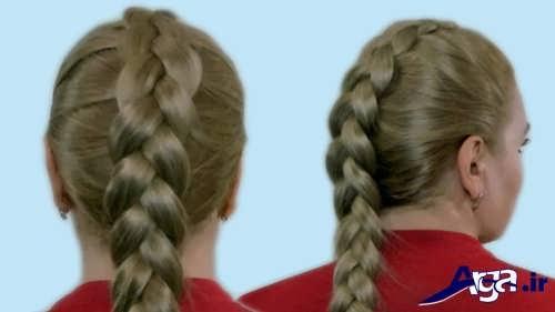بافت موی فرانسوی ساده