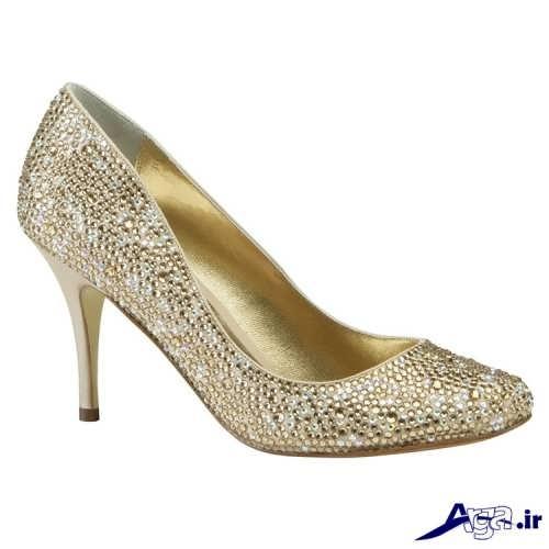 کفش طلایی رنگ مجلسی