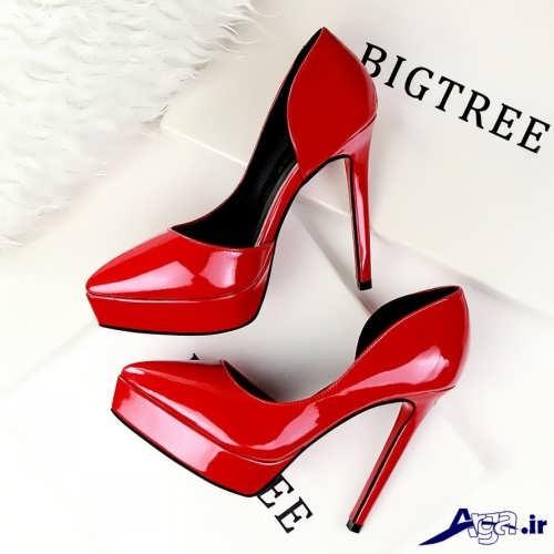 کفش ساده مجلسی قرمز