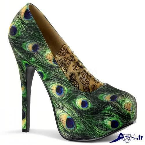 مدل کفش های مجلسی با طرح طاووس