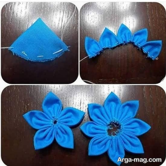 ساخت گل پارچه ای زیبا