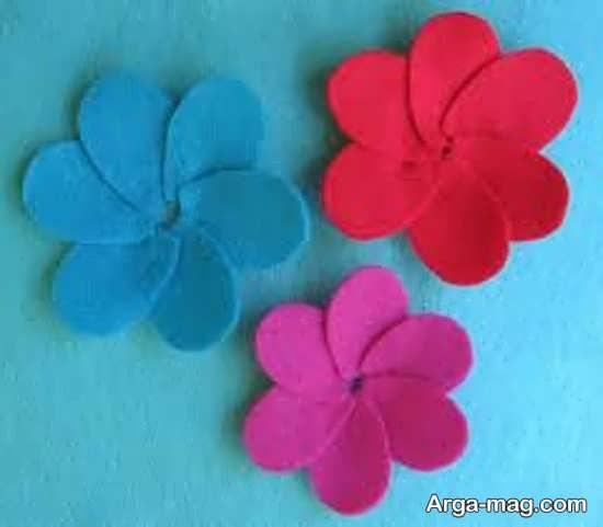 مدلی از گلسازی پارچه ای