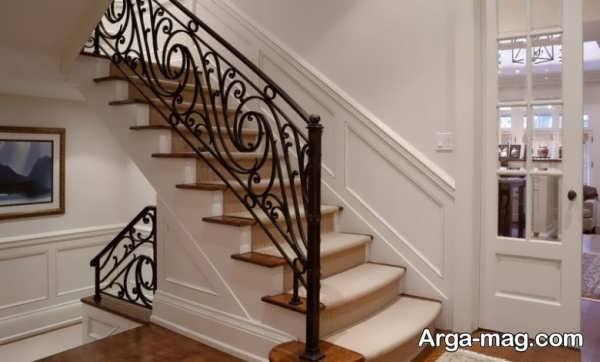 نرده پله با طرح زیبا