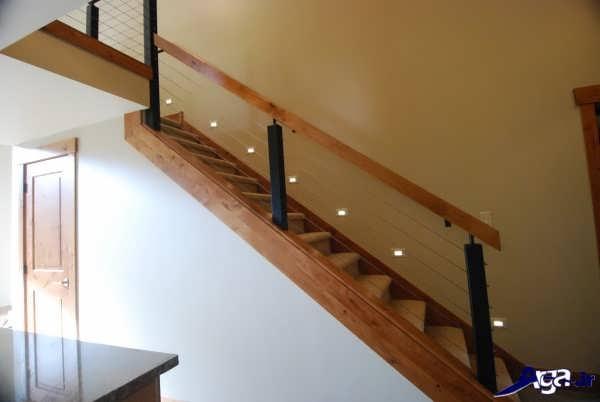 نرده های راه پله چوبی