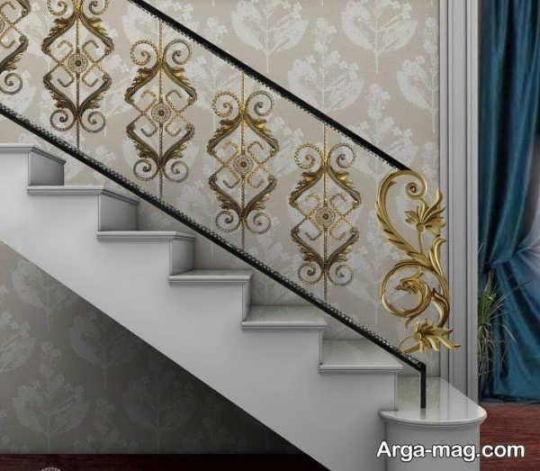 مدل نرده راه پله با طرح شیک