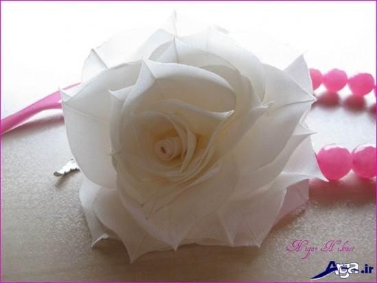 گل پارچه ای زیبا و ساده