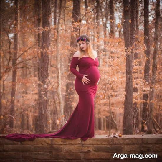 جدیدترین ژست عکس بارداری در طبیعت