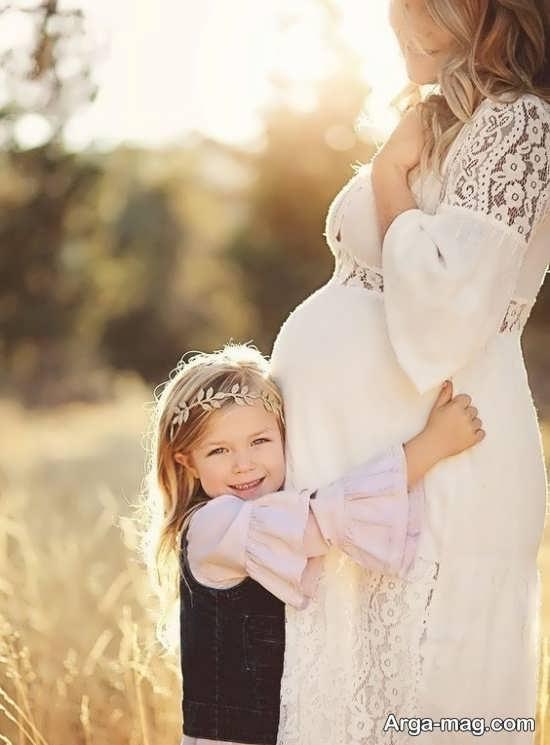 عکس بارداری در طبیعت رویایی