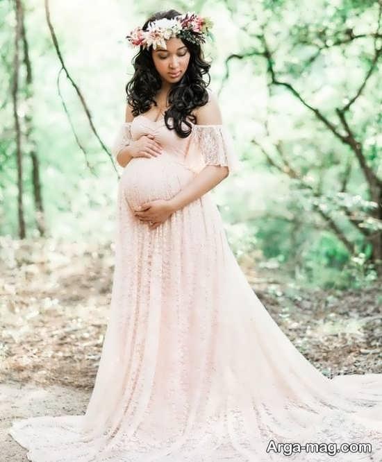 ژست عکس حاملگی منحصر به فرد