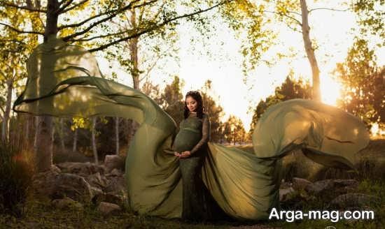 عکس بارداری قشنگ در طبیعت