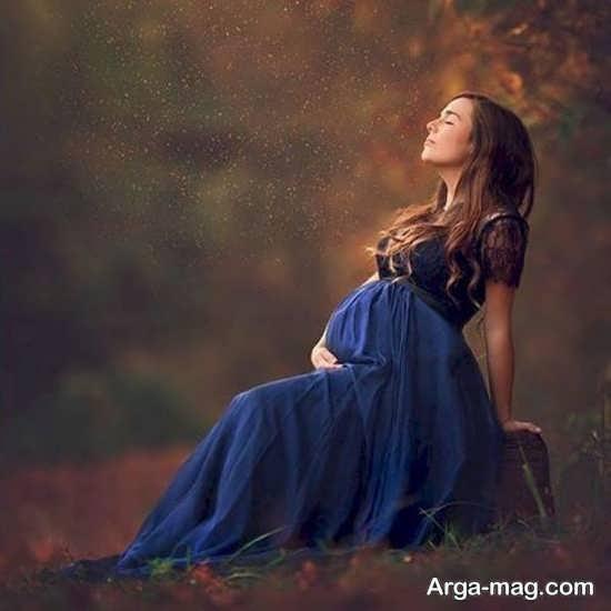عکس بارداری هنری در طبیعت