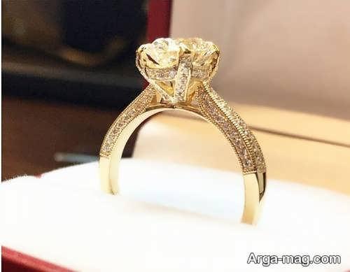 مدل جذاب انگشتر طلای زنانه
