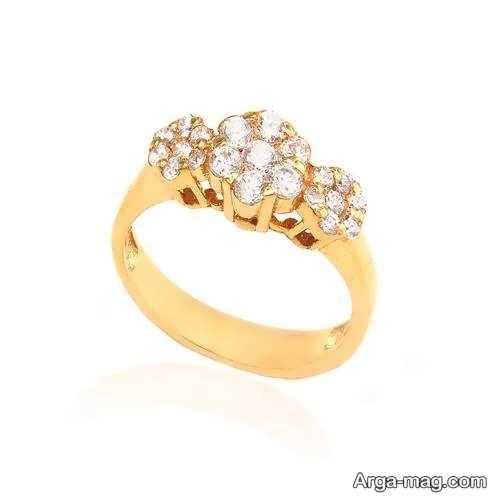 مدلی از انگشتر طلا زنانه