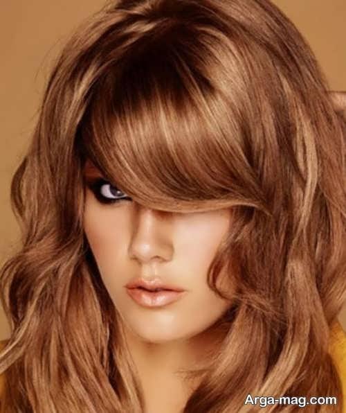رنگ موی طلایی مسی