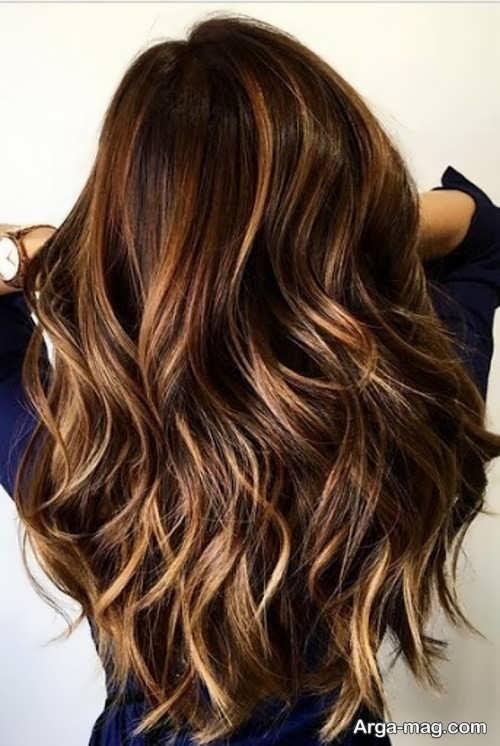 رنگ مو مش طلایی فندقی
