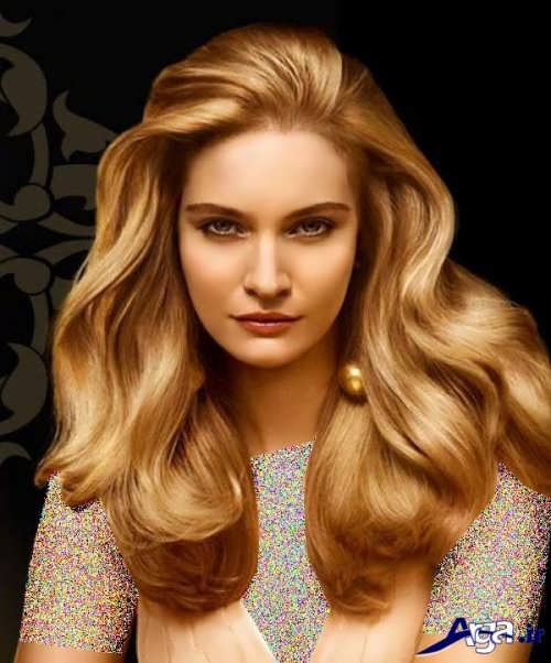 رنگ موی زیبا طلایی
