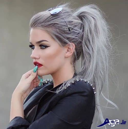 رنگ موی زنانه خاکستری