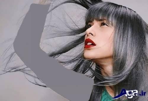 رنگ موهای زیبا و متفاوت خاکستری