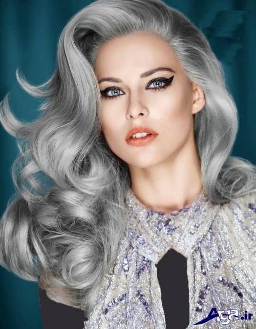 رنگ موی زیبا و متفاوت خاکستری