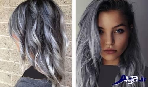 مدل رنگ مو خاکستری