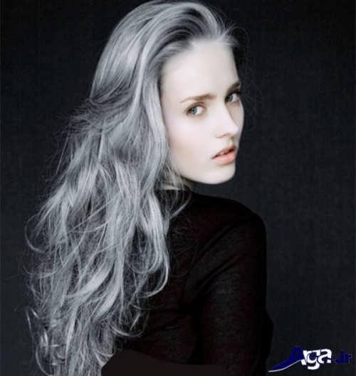 رنگ مو خاکستری نقره ای