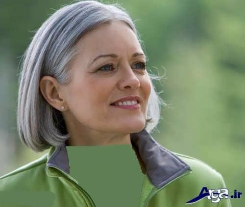 رنگ مو خاکستری برای خانم های میانسال