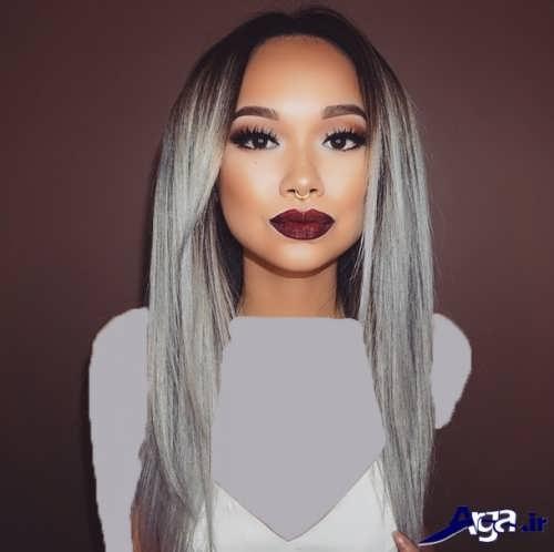 رنگ مو خاکستری روشن