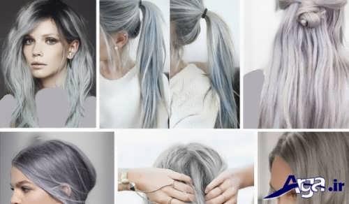 انواع مدل رنگ موی خاکستری