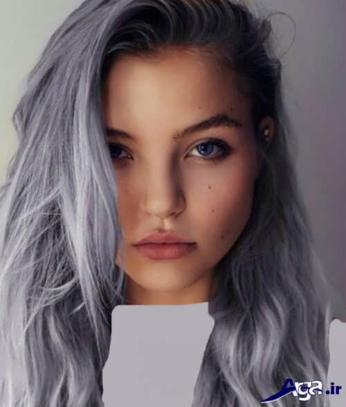 مدل رنگ موی خاکستری