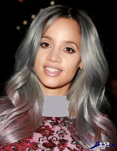 رنگ موی خاکستری بنفش