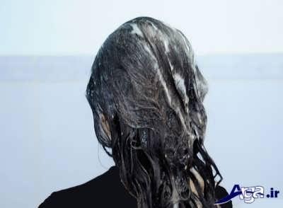 آغشته کردن موی سر با شامپوی گیاهی