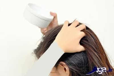 ماساز دادن موی سر با مواد طبیعی