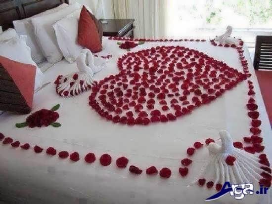 تزیین تختخواب عروس