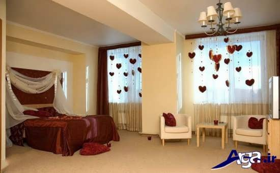 تزیین زیبا و فانتزی اتاق خواب عروس