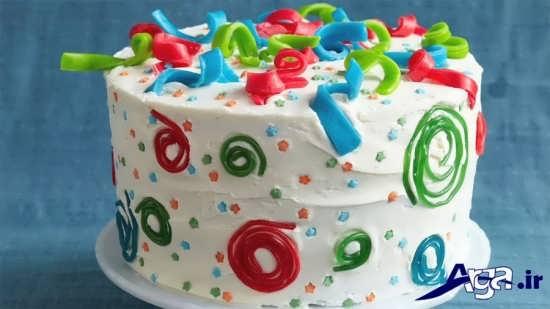 تزیین زیبا کیک با خامه