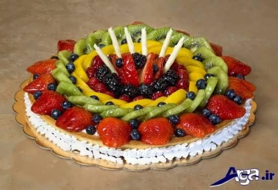 عکس تزیین کیک تولد با میوه