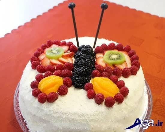تزیین کیک با میوه