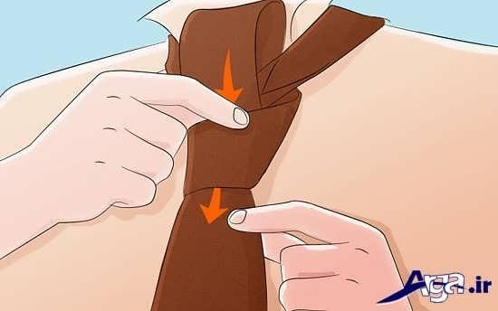 مراحل بستن گره ساده کراوات